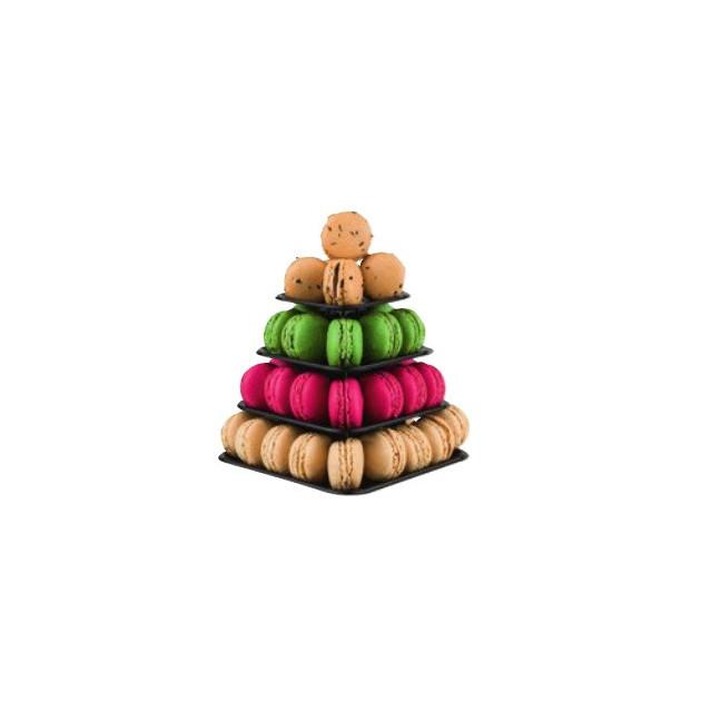 FIN DE SERIE Mini-pyramide 48 macarons. suggestion de présentation