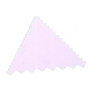 Peigne triangulaire en plastique pour décoration