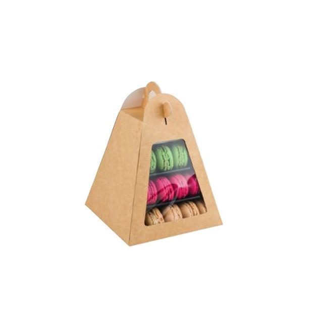 Boite carton pour mini-pyramide a macarons (vendu separement)
