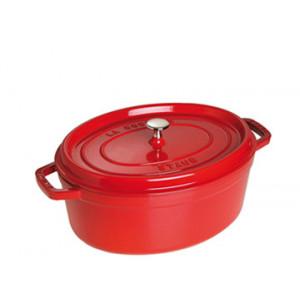 STAUB Cocotte Fonte Ovale 29 cm Rouge Cerise 4,2 L