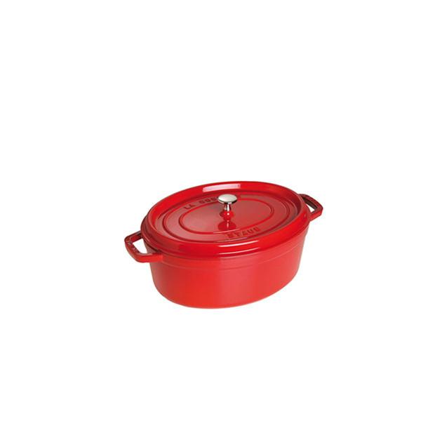 STAUB Cocotte Fonte Ovale 29 cm Rouge Cerise 4.2 L