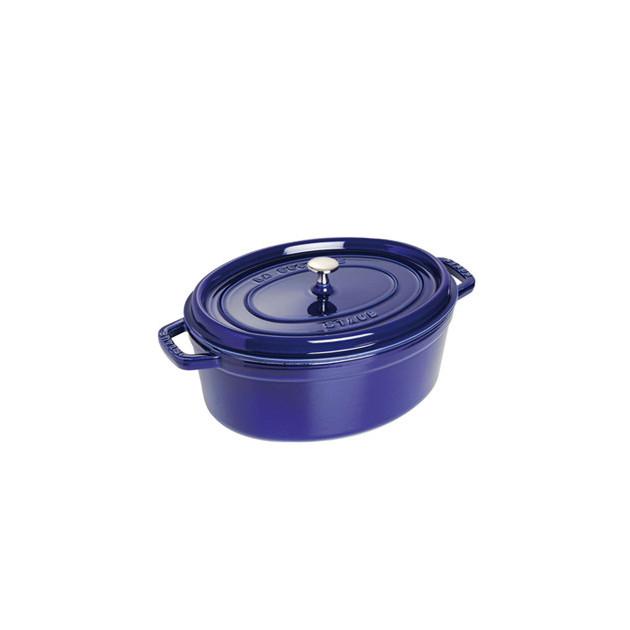 STAUB Cocotte Fonte Ovale 33 cm Bleu Intense Majolique 6.7 L