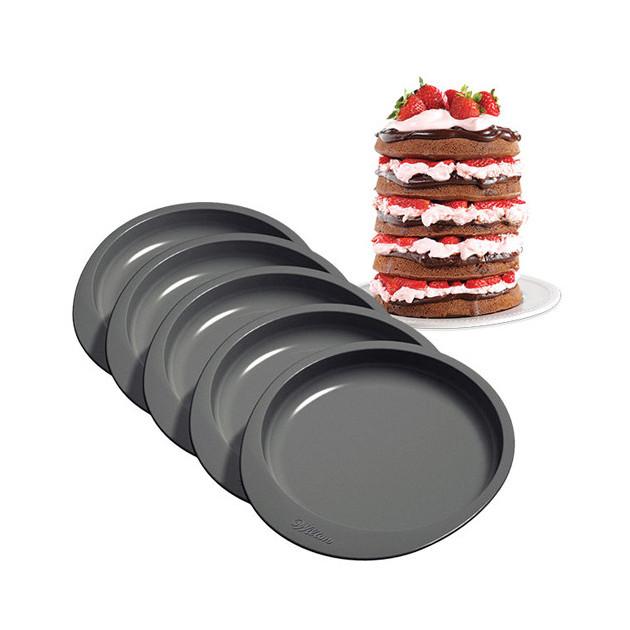 Moule gateau a etages Rainbow Cake Wilton (x5)