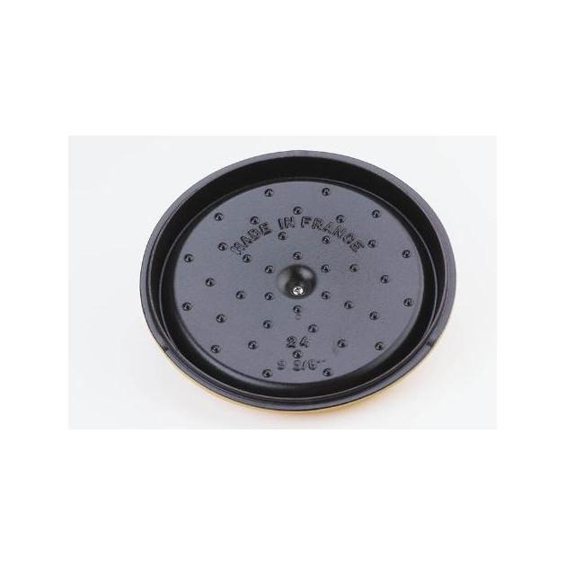 Cocotte ronde en fonte 24 cm gris graphite
