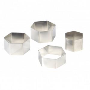 FIN DE SERIE Nonnette Hexagonale Inox Ø 7,5 cm H3,5 cm