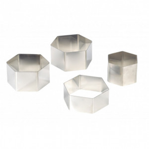 FIN DE SERIE Nonnette Hexagonale Inox Ø 7,5 cm H4 cm