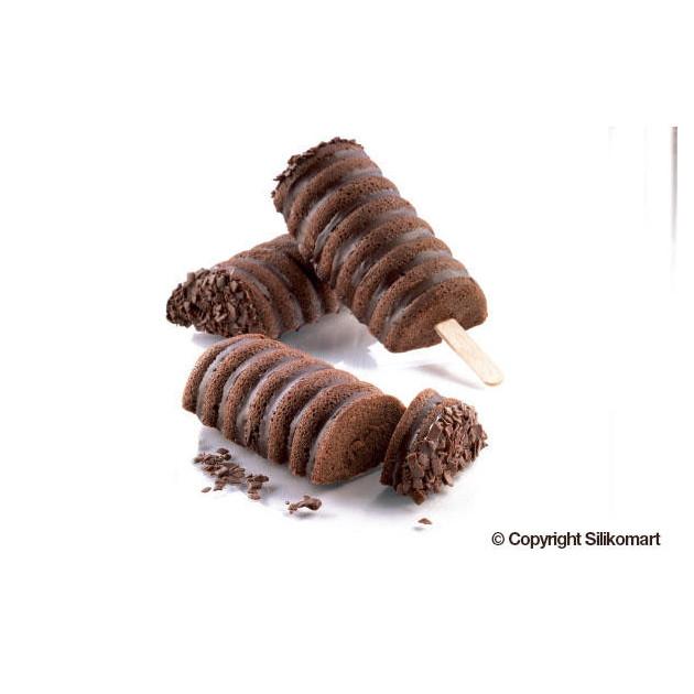 Gateaux au chocolat realises dans le Moule a glace silicone Tango