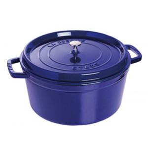 STAUB Cocotte Fonte Ronde 28 cm Bleu Intense Majolique 6,7 L