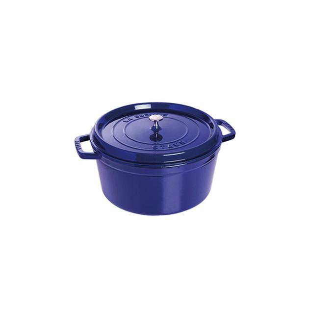 STAUB Cocotte Fonte Ronde 28 cm Bleu Intense Majolique 6.7 L