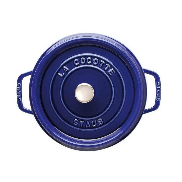 Cocotte Ronde 28 cm Bleu Staub Fonte emaillee 6.7 l