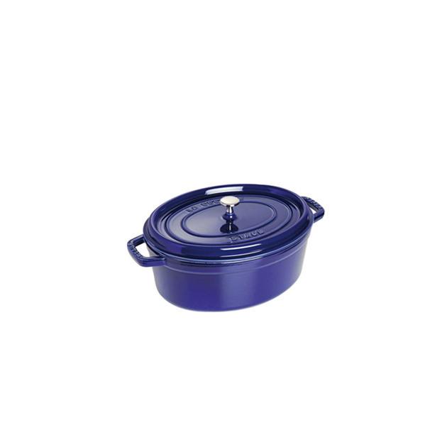 STAUB Cocotte Fonte Ovale 29 cm Bleu Intense Majolique 4.2 L