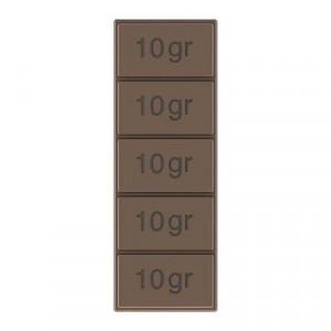 Moule Tablette de Chocolat 5x10g (x6) Pop Chocolat