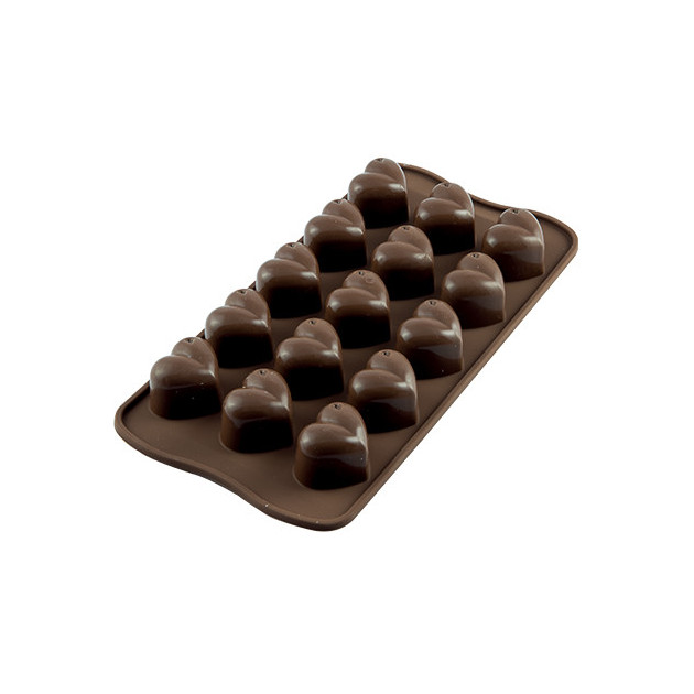Moule a Chocolat 15 Coeurs Easy Choc - Silicone Special Chocolat