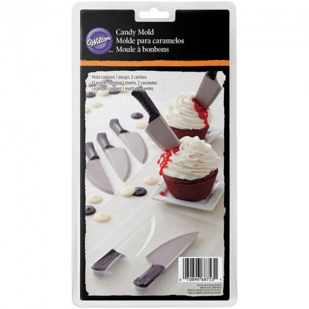 FIN DE SERIE Moule Chocolat Couteau 2 Grandes Empreintes Wilton