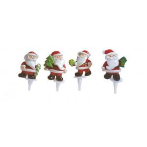 Père Noël 4 modèles sur pique x48