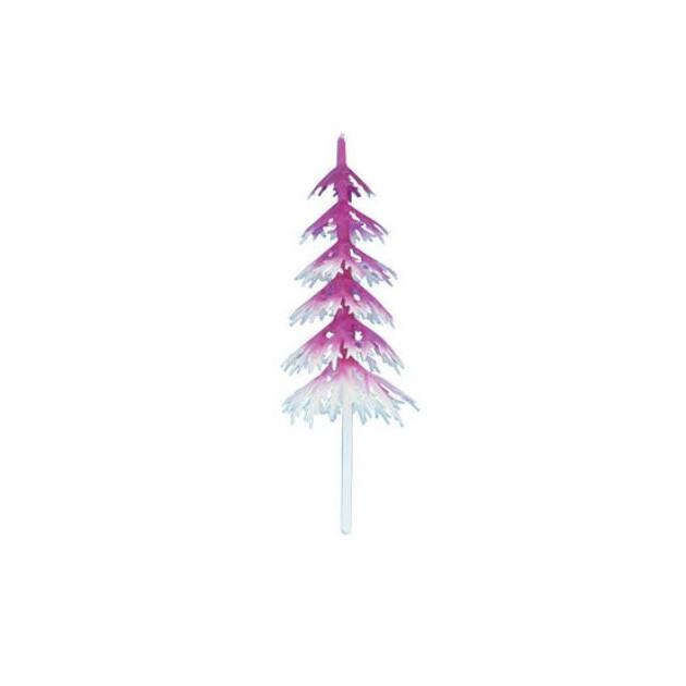 Sapin Blanc et Fuchsia Volume x144 Decor Bûche de Noel