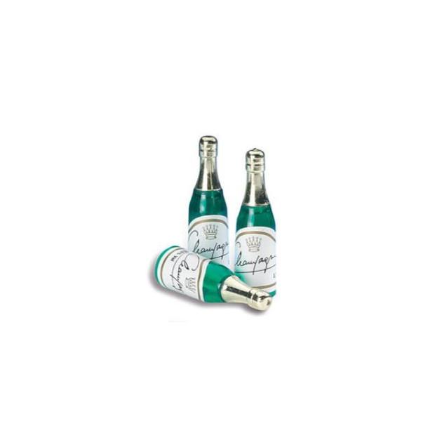 Bouteilles de Champagne x72 Decoration bûche de Noel