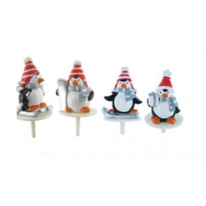 Pingouins Sport d'Hiver Sujet en Résine x50