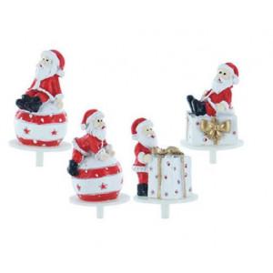 Père Noël Cadeaux et Boules Sujets en Résine x50