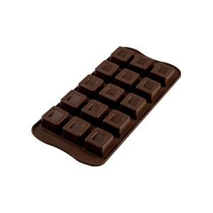 Moule à Chocolat 15 Carrés Easy Choc - Silicone Spécial Chocolat