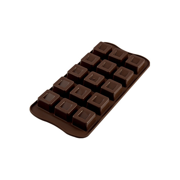 Moule a Chocolat 15 Carres Easy Choc - Silicone Special Chocolat