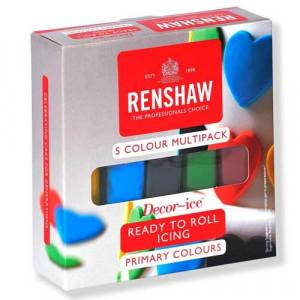 Kit Pâte à sucre Couleurs Primaires 500g Renshaw