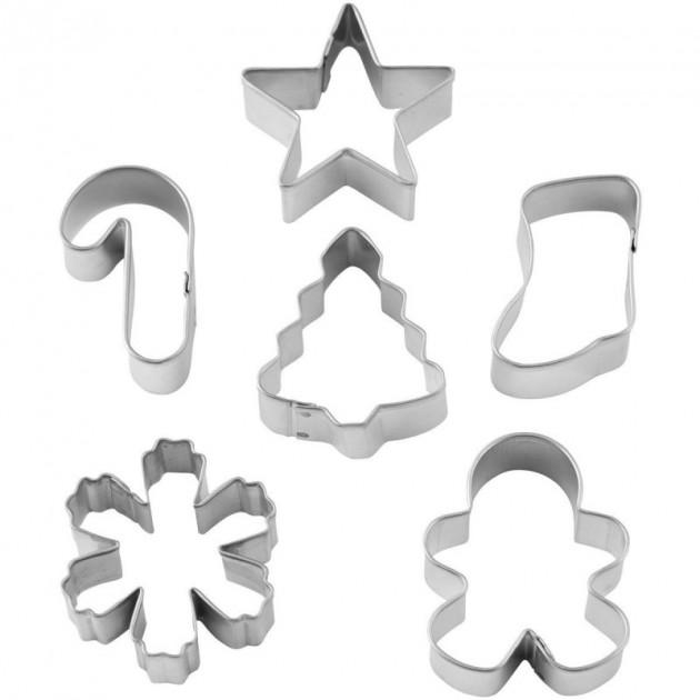 Mini Emporte Piece en Metal de Noel (x6) Wilton