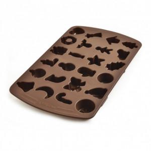 FIN DE SERIE Moule à Chocolat Assortiment Fête 24 Empreintes Mastrad