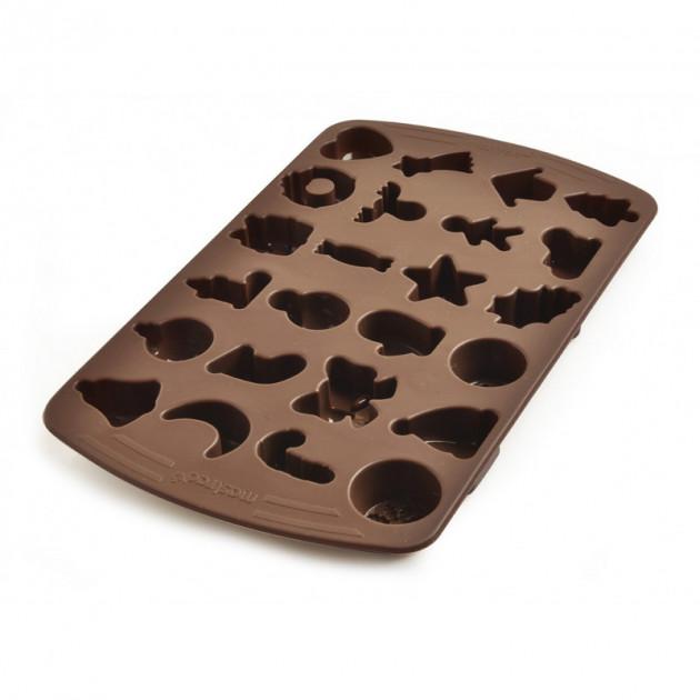 FIN DE SERIE Moule a Chocolat Assortiment Fete 24 Empreintes