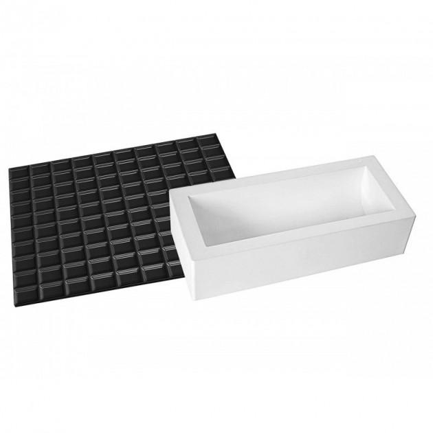 Kit Moule a Bûche et Tapis Decor Tablette de Chocolat SilikoMart Professional
