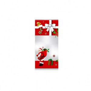 Sachet Confiserie 12x26cm Père Noël et sa Hotte (x100)