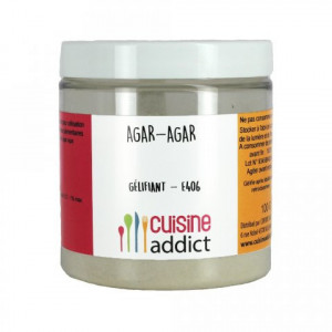 Agar-agar gélifiant E406 50 g Cuisineaddict