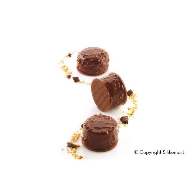 Chocolats realises avec le Moule Silicone Multiflex 40ml