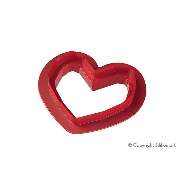 Decoupoir Coeur Plastique inclus avec le Moule Silicone Coeur Origami