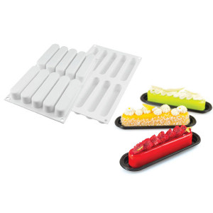 Moule Silicone 10 Eclairs 13x2,5 cm SilikoMart Professional