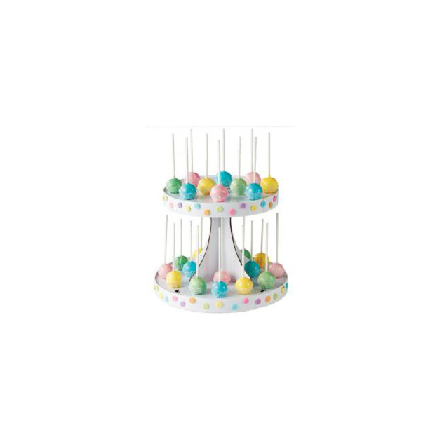 Presentation de Cake Pops realisee avec le presentoir Cake Pops Wilton