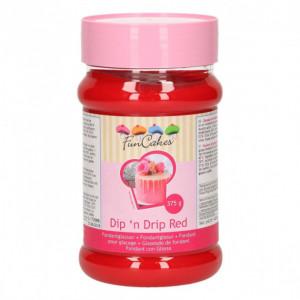 Glaçage Dip'n Drip Rouge 375g Funcakes
