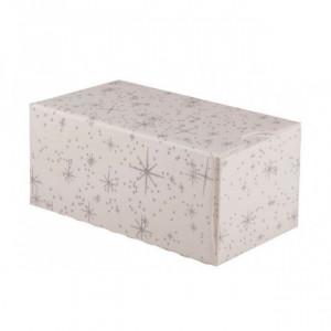 Boîte à Bûche Isotherme 25x11cm Étoiles (x25)