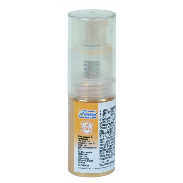 Spray Poudre Doree Alimentaire Scintillante 10g Florensuc