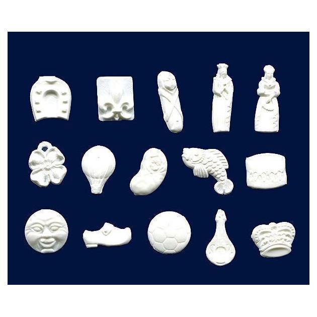Feves Baigneurs Plastique Blanc x144