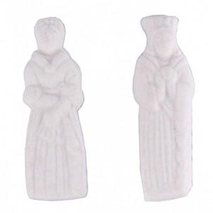Fèves Roi et Reine Plastique Blanc x144