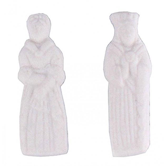 Feves Roi et Reine Plastique Blanc x144