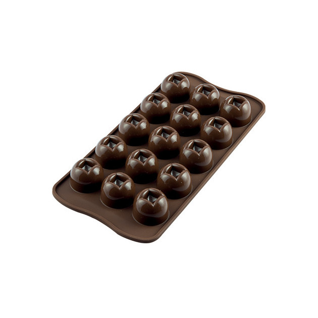 Moule a Chocolat 15 Boules Easy Choc - Silicone Special Chocolat