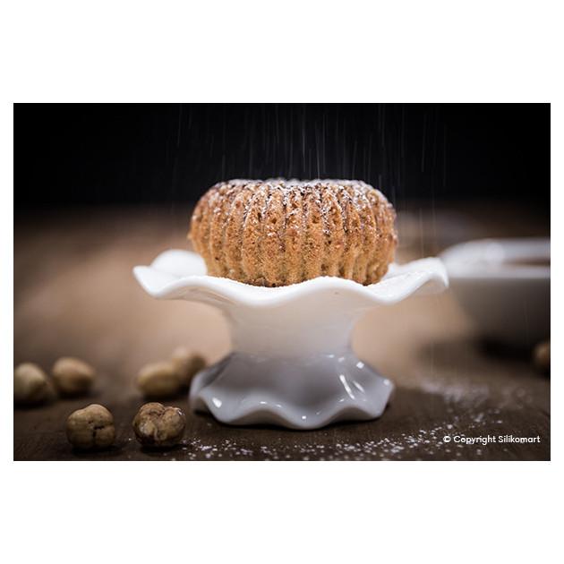 Presentation dessert realise avec le Moule Mini Raggio Silikomart 3D Design