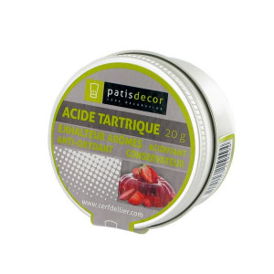 Acide Tartrique E334 20g Patisdecor