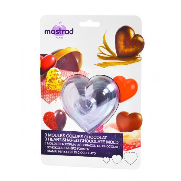 FIN DE SERIE Moule a Chocolat Coeur (x3)