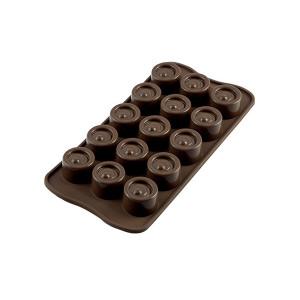 Moule à Chocolat 15 Ronds Easy Choc - Silicone Spécial Chocolat