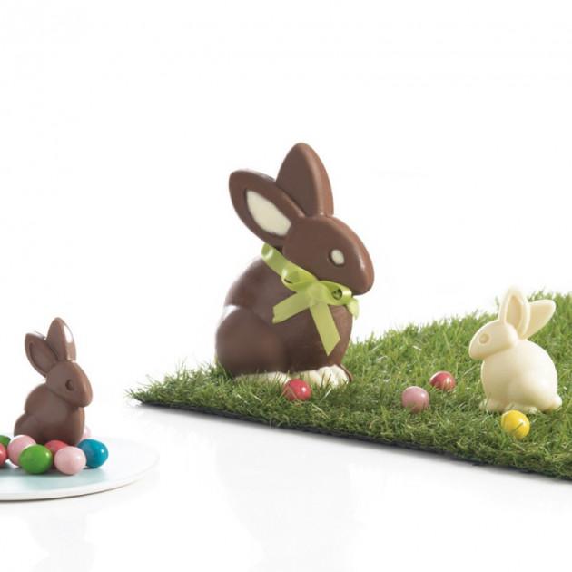 Exemple de realisation avec le Moule a Chocolat Lapin (x6) Mastrad