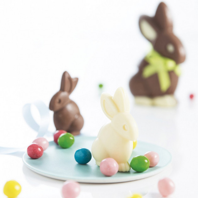 Suggestion de presentation avec le Moule a Chocolat Lapin (x6) Mastrad