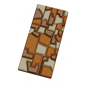 Moule Tablette de Chocolat Patchwork x5
